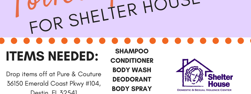 Pure & Couture Salon in Destin hosts toiletry drive for Shelter House