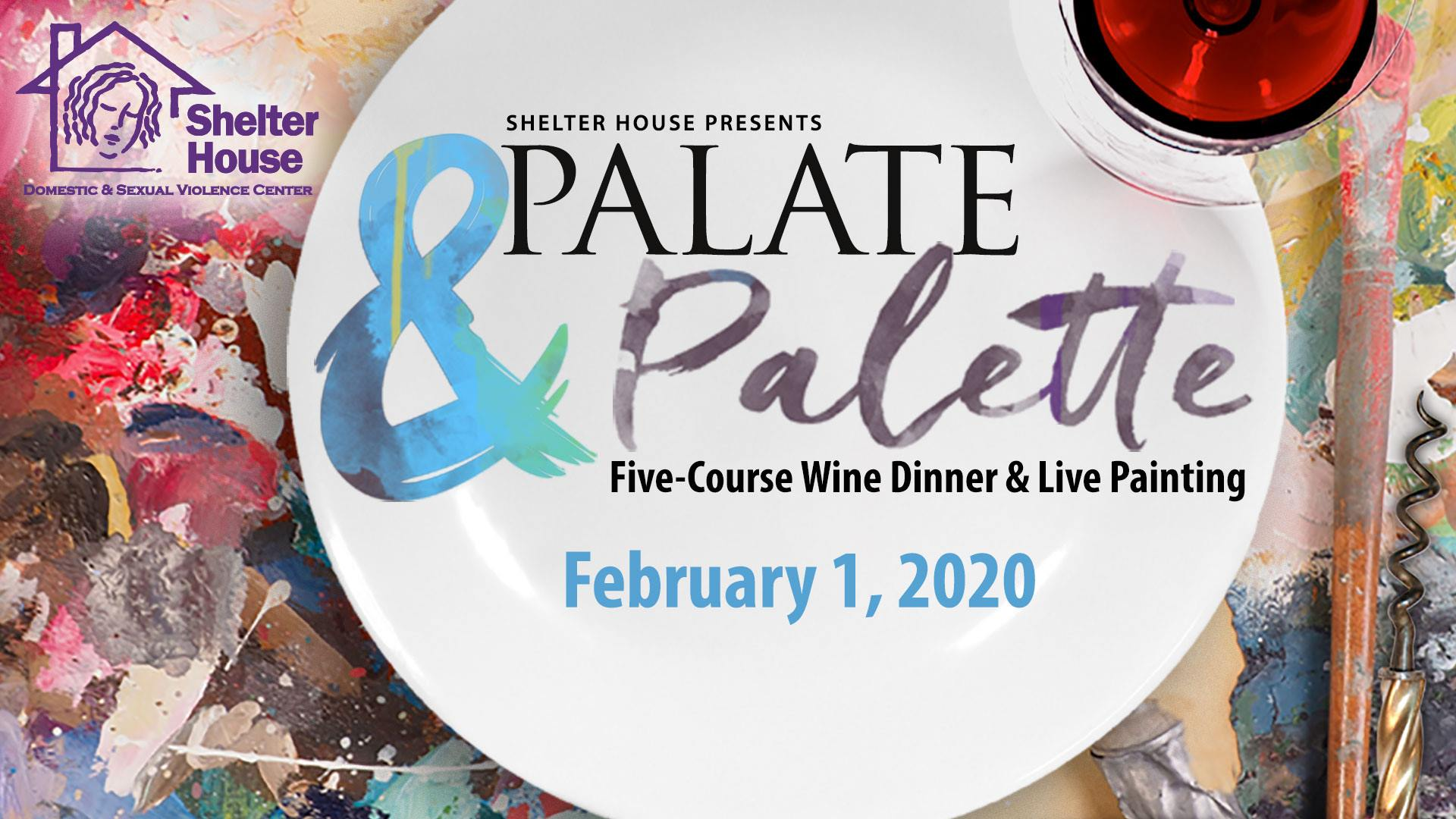 Shelter House's Palate & Palette Dinner & Live Painting